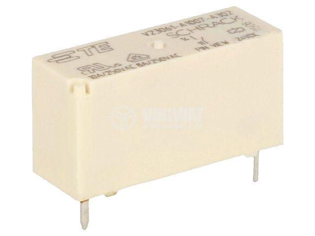 Реле електромагнитно 3-1393222-9, бобина 24VDC, 8A, 240VAC, SPST