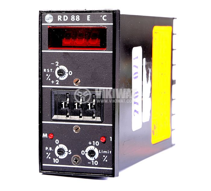 Temperature controller, GEFRAN RD88 E, 24 VAC - 48 VAC, 0 °C to 199 °C, J type, PID, relay output - 1