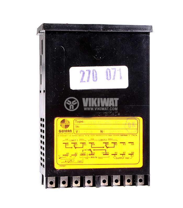 Temperature controller, GEFRAN RD88 E, 24 VAC - 48 VAC, 0 °C to 199 °C, J type, PID, relay output - 2