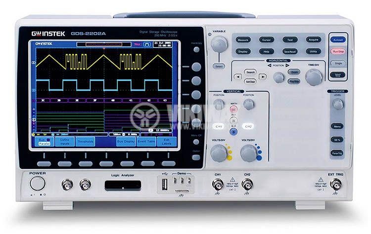 Цифров осцилоскоп GDS-2202A, 200 MHz, 2 GSa/s реално време, 2 канален - 1