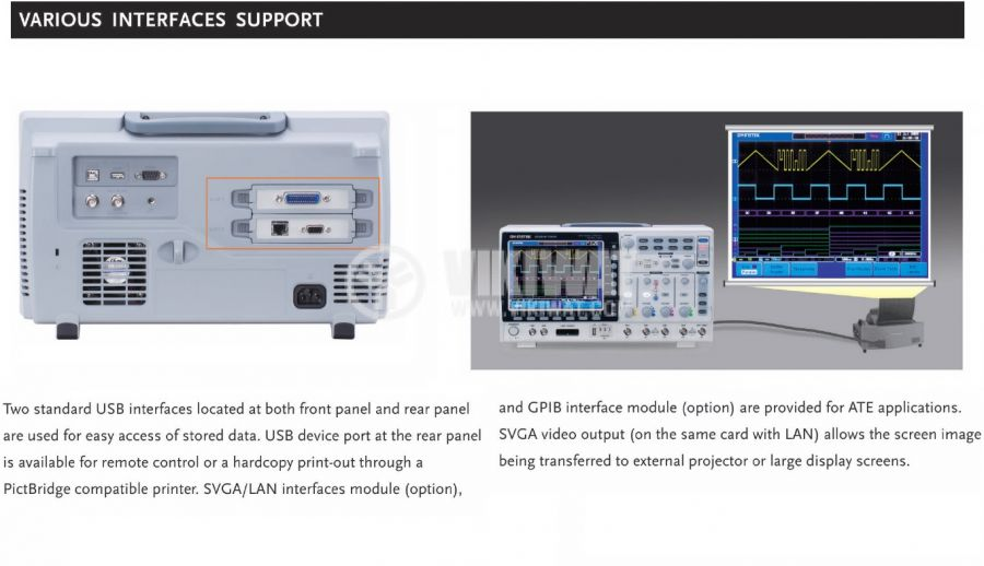 Digital Oscilloscope  GDS-2202A, 200 MHz, 2 GSa/s real time, 2 channel - 2