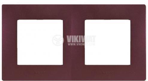 Рамка, Legrand, Niloe, две гнезда, цвят лилав, 397082