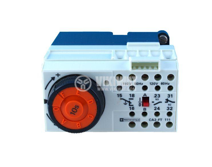 Time Relay, CA2-FR 111B, 24 VAC, 50 Hz/60 Hz, 2NO +2 NC, 500 VAC, 10 A, 0 s - 10 s - 2