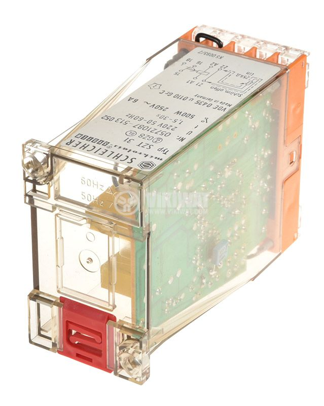 Time relay SZT 31, analog, 220VAC, 6A, SPST NO, 1.5sec - 30secs - 2