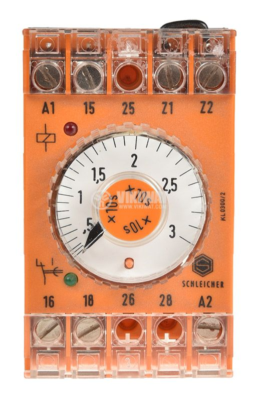Time relay SZT 31, analog, 220VAC, 6A, SPST NO, 1.5sec - 30secs - 4