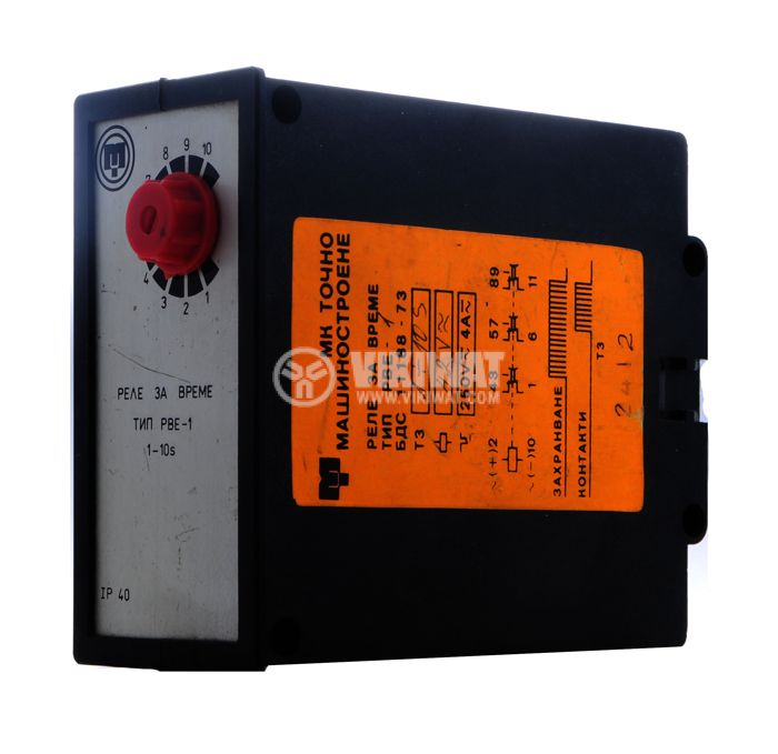 Analogue Time Relay, РВЕ-1, 42 VAC, 3NO + 3NC, 250 VAC, 4 A, 1 s-10 s - 1