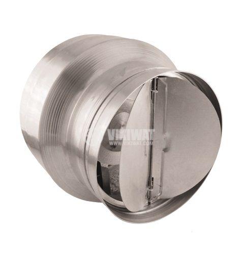 Вентилатор, канален, BOK135/100, Ф120 mm, 220 VAC, 42 W, 205 m3/h, високотемпературен, с клапа