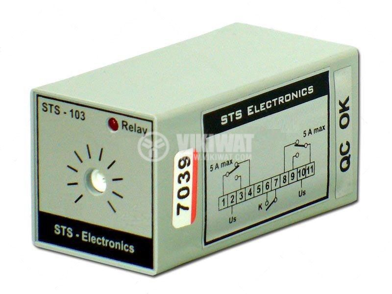 Time Relay, STS103-50, 24 VDC, 2NO +2 NC, 250 VAC, 5 A, 0 s-50 s - 1