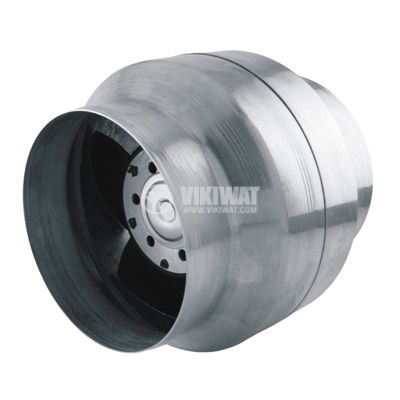 Вентилатор, канален, BOK150/100, Ф100 mm, 220 VAC, 46 W, 240 m3/h, високотемпературен