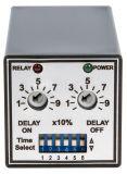 Repeat Cycle Timing Relay, STS101-600-24, 24 VDC, 2NO +2 NC, 250 VAC, 5 A, 0 s-10 min