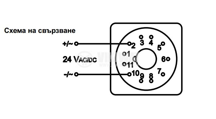 Hour Counter, STS 105-08, 24 VAC / DC, 4 digits - 3