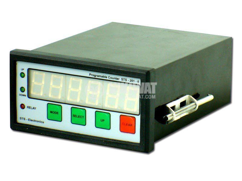 Programmable Impulse Counter, STS 201-06, 220 VAC, 6 digits, NO + NC, 5A, 250VAC - 1
