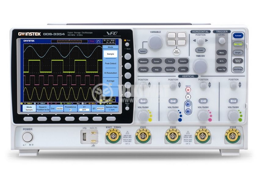 Digital Oscilloscope  GDS-3154, 150 MHz, 5 GSa/s real time, 4 channel - 3
