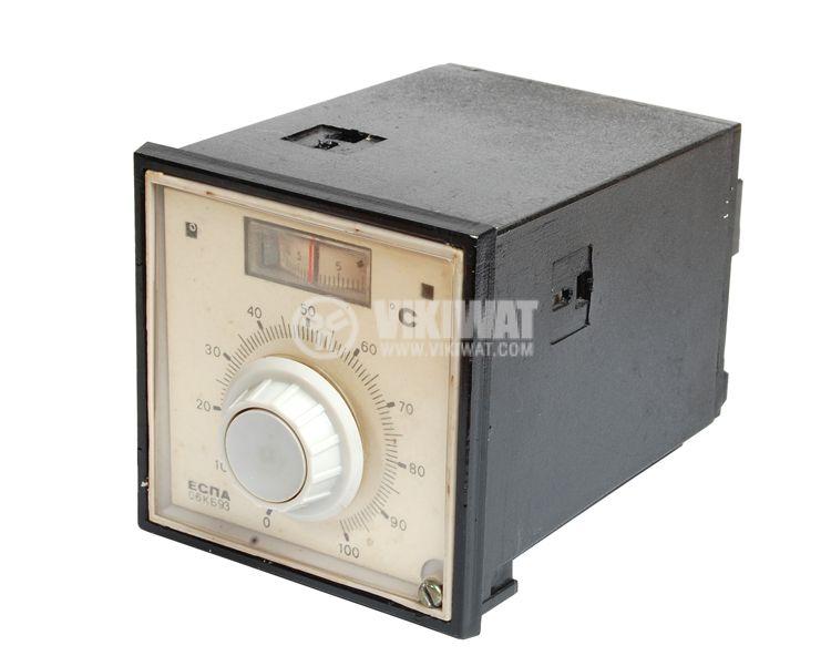 Temperature regulator, ESPA 06KB93, 220 VAC, 0 ° C to 100 ° C, a thermistor relay output - 2