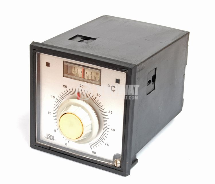 Temperature controller, ESPA 06KB91, 220 VAC, 0 ° C to 50 ° C, for RTD, two relay outputs - 2