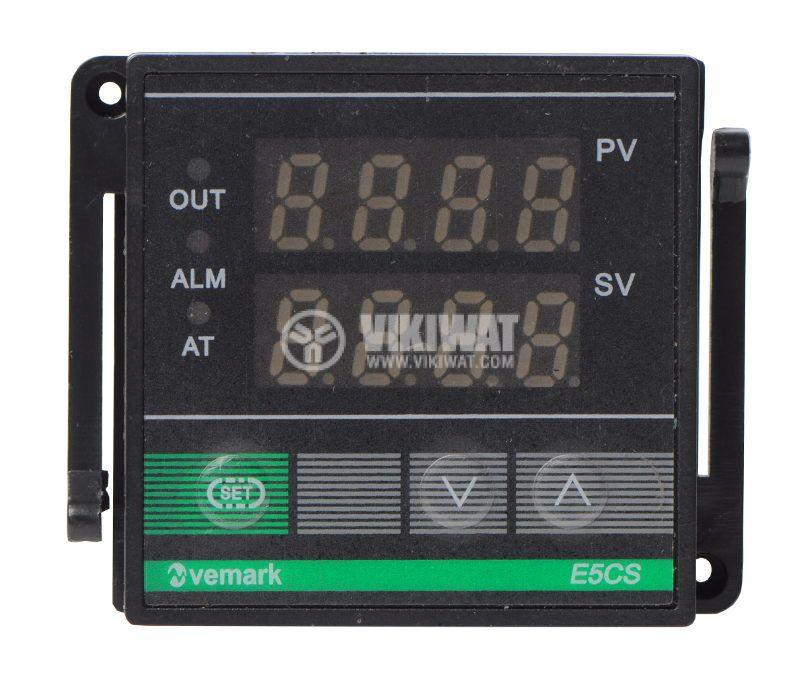Temperature controller E5CS, 220VAC, 0-400°C, TC type J, SSR output - 1