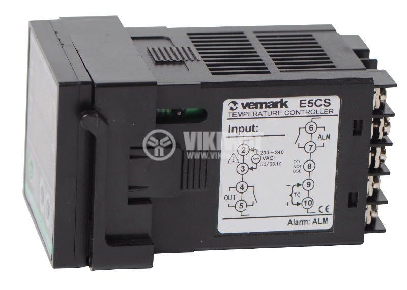 Temperature controller E5CS, 220VAC, 0-400°C, TC type J, SSR output - 2