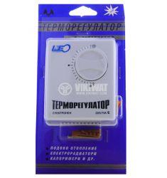 Терморегулатор, електронен, за подово отопление, +15°C до +25°C, 220 VAC, 16 A