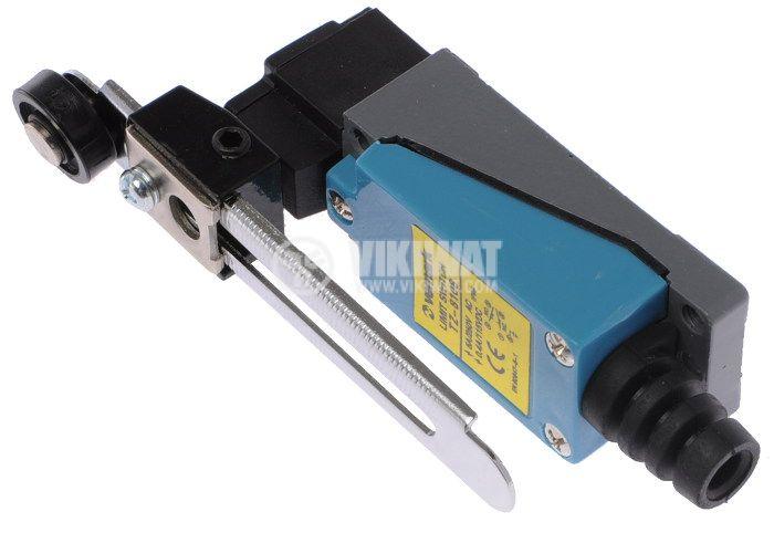 Краен изключвател TZ-8108, DPST-NO+NC, 5A/250VAC, регулируема ролка - 3