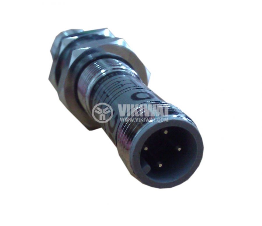 Индуктивен датчик M8x60mm ID08N1E1C NPN  NO 10-30VDC за куплунг, обхват 1mm, екраниран - 2