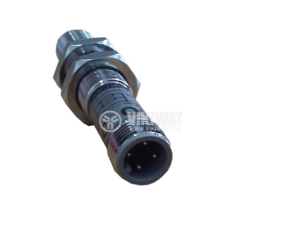 Индуктивен датчик M8x60mm ID08N1E1C NPN  NO 10-30VDC за куплунг, обхват 1mm, екраниран - 4