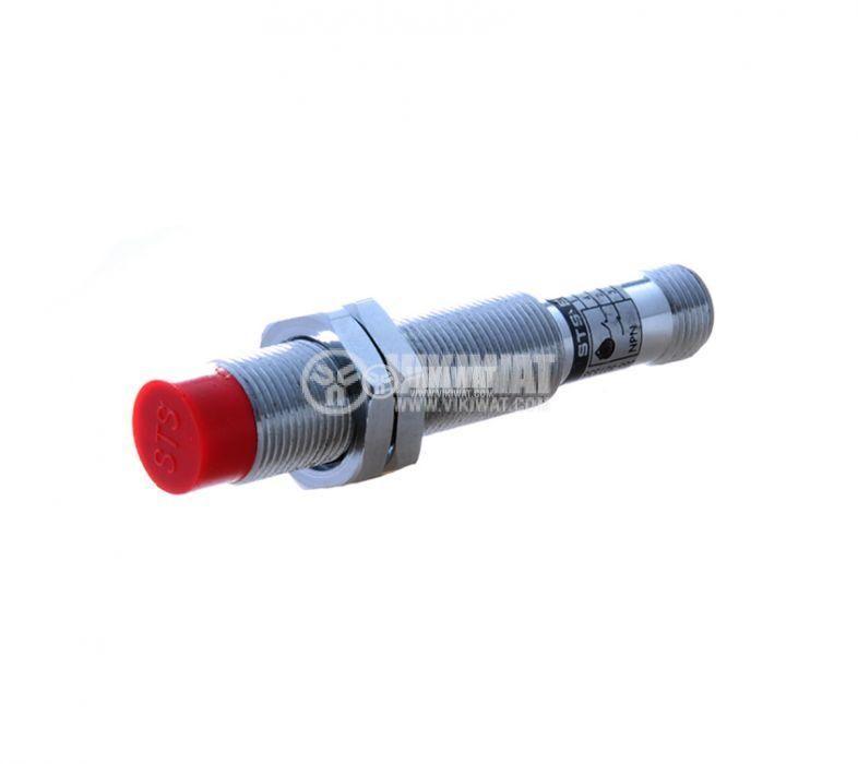 Индуктивен датчик M14x60mm  ID14N31CL NPN NO+NC 10-30VDC с куплунг, обхват 4mm, неекраниран - 1