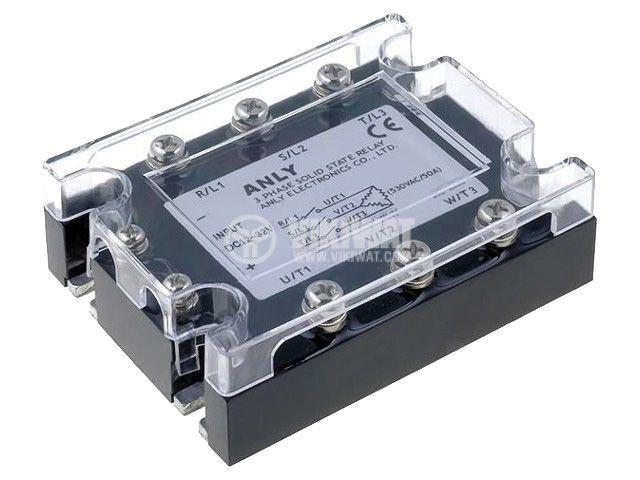 Солид стейт реле ASR-3PH90DA-H, полупроводниково, 12~32VDC, товароносимост 90A/48~480VAC