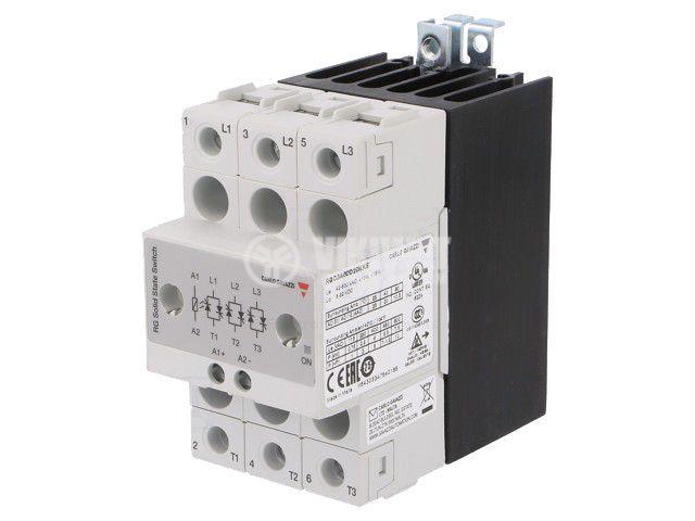 Солид стейт реле RGC3A60D20KKE, полупроводниково, 5~32VDC, товароносимост 20A/42~660VAC