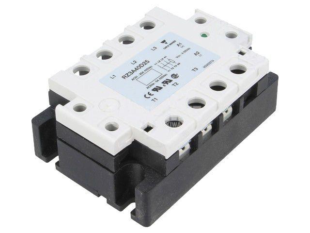 Солид стейт реле RZ3A40D25, полупроводниково, 4~32VDC, товароносимост 25A/24~440VAC