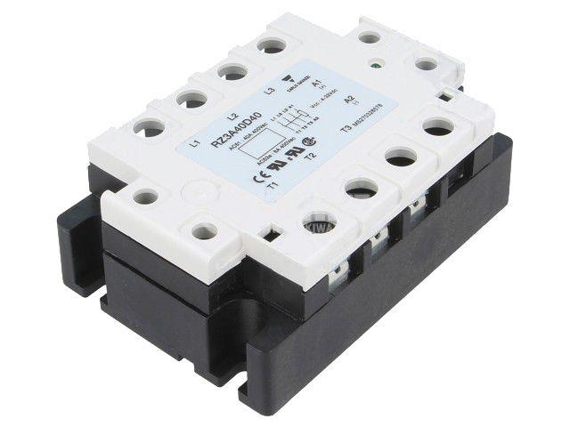 Солид стейт реле RZ3A40D40, полупроводниково, 4~32VDC, товароносимост 40A/24~440VAC