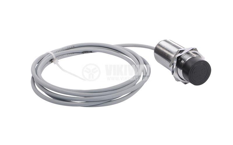 Индуктивен датчик M30x60mm ID30P31L  PNP NO+NC 10-30VDC, обхват 10mm, неекраниран
