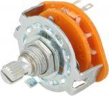 Rotary switch NINIGI SR2511315K9S, 3 positions, 0.3A/125VAC