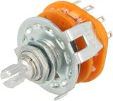 Rotary switch SR2511615K9S, 6 positions, 0.3A/125VAC