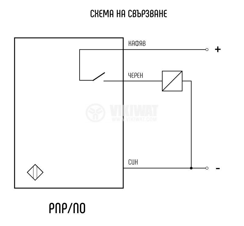 Proximity Switch 25x10x50mm ID56P1E1L PNP NO 10-30VDC, range 5mm, non-shielded - 4