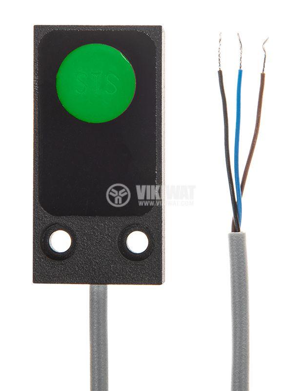 Proximity Switch 25x10x50mm ID56P1E1L PNP NO 10-30VDC, range 5mm, non-shielded - 2