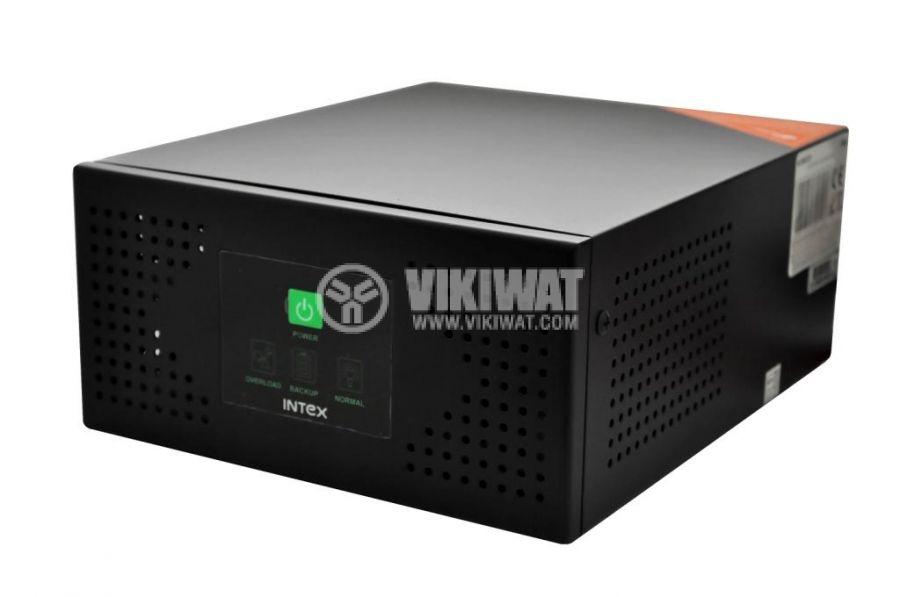 Инвертор със зарядно, UPS устройство, 12VDC-220VAC, 400W, с истинска синусоида, модел KOM0229 Intex - 2