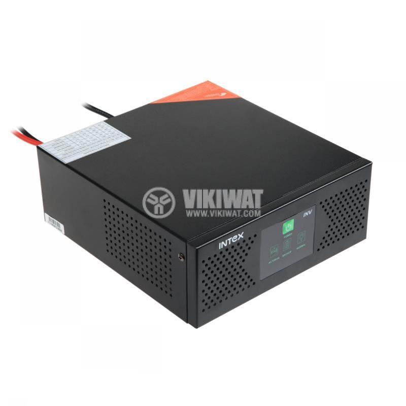 Инвертор със зарядно, UPS устройство, 12VDC-220VAC, 400W, с истинска синусоида, модел KOM0229 Intex - 1