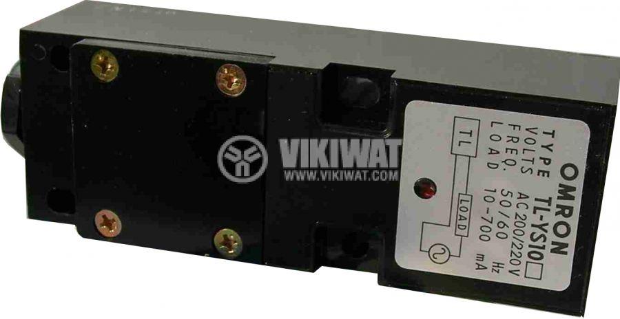 Индуктивен датчик TL-YS10, 100-110 VAC, NO, 115x40x35 mm, обхват 7.5 mm, eкраниран - 1