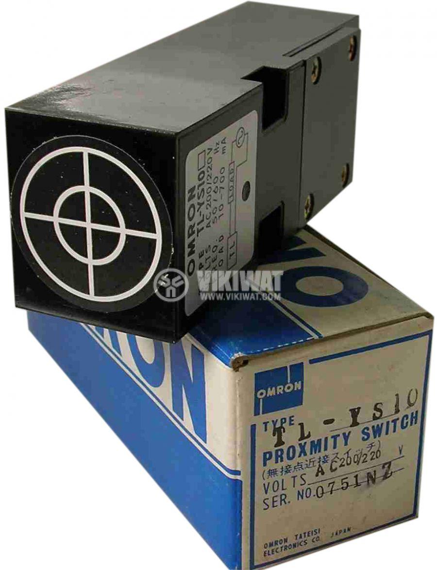 Индуктивен датчик TL-YS10, 100-110 VAC, NO, 115x40x35 mm, обхват 7.5 mm, eкраниран - 2