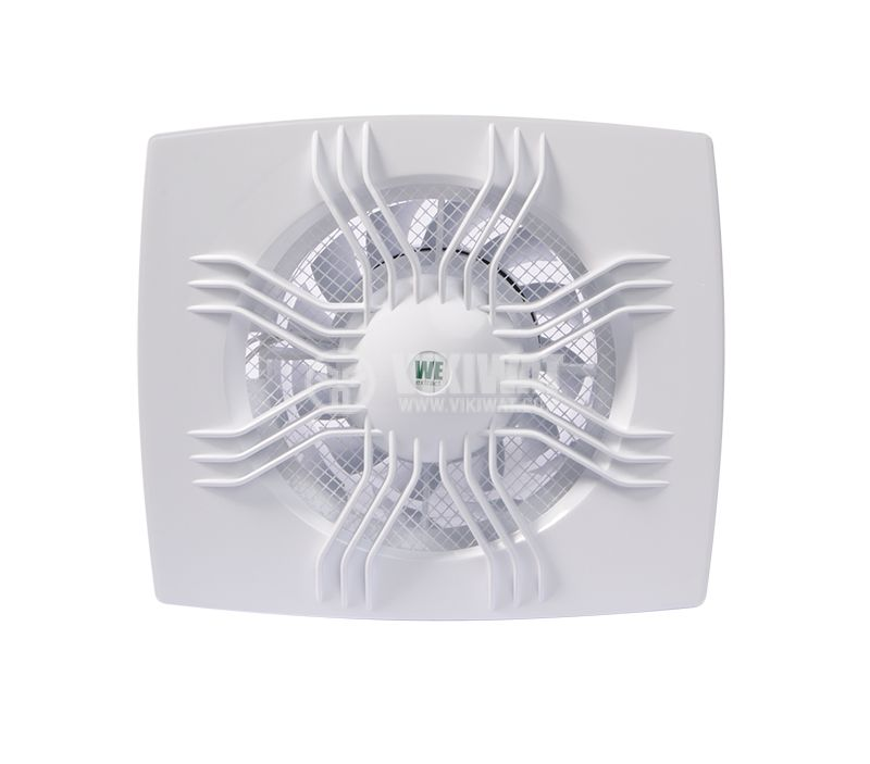Bathroom fan WE120, 220VAC, ф120mm, 95m3/h, 11W, with valve - 1