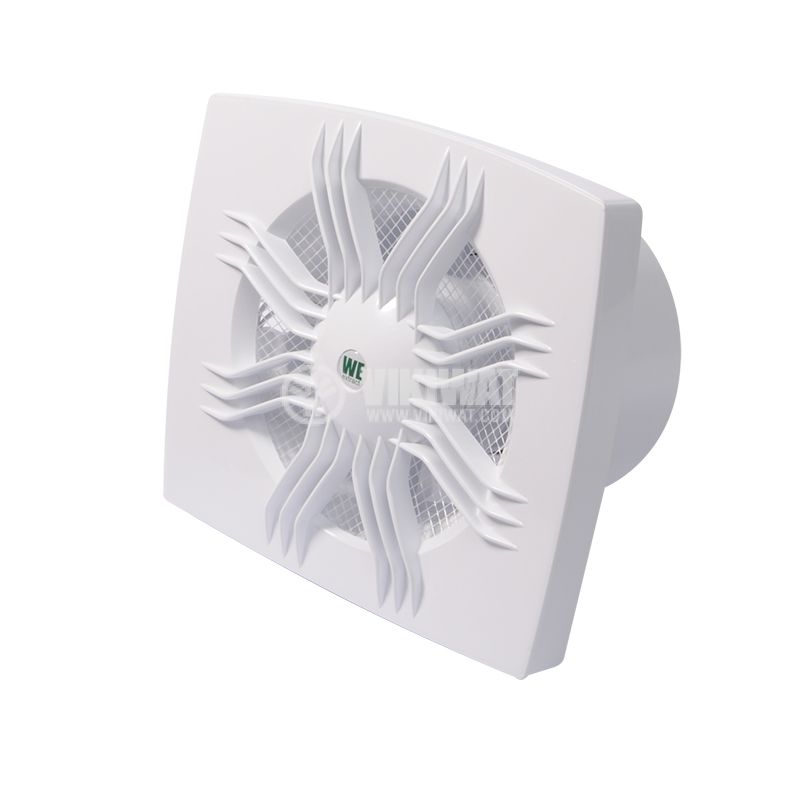 Bathroom fan WE120, 220VAC, ф120mm, 95m3/h, 11W, with valve - 2