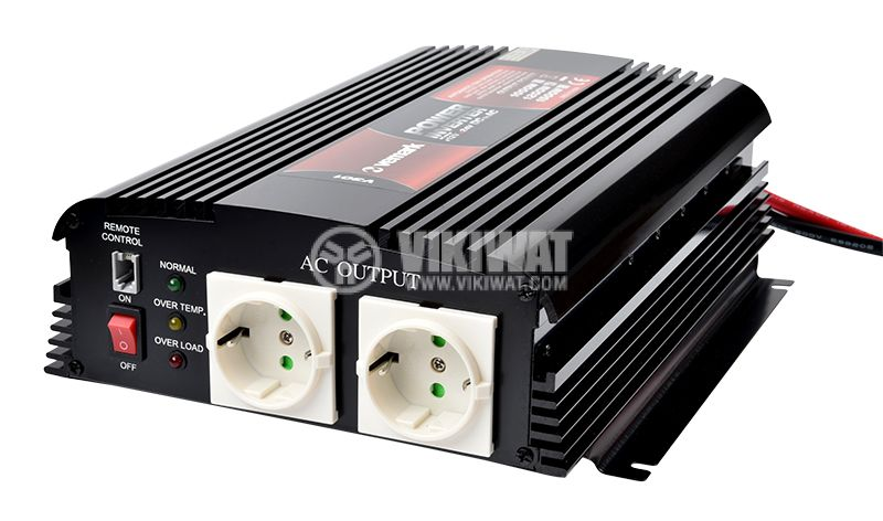 Инвертор A301-1200-24, 24VDC-220VAC, 1200W, модифицирана синусоида - 1