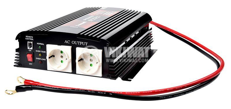 Инвертор A301-1200-24, 24VDC-220VAC, 1200W, модифицирана синусоида - 3