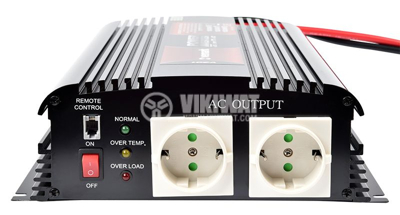 Инвертор A301-1200-24, 24VDC-220VAC, 1200W, модифицирана синусоида - 4