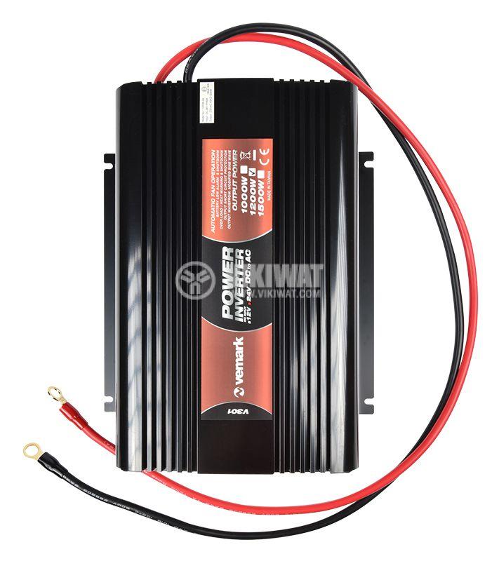 Инвертор A301-1200-24, 24VDC-220VAC, 1200W, модифицирана синусоида - 6