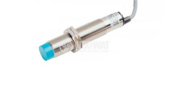 Капацитивен датчик, CD18P21L, 10-30 VDC, PNP, NO, М18x80mm, 8mm, неекраниран - 1