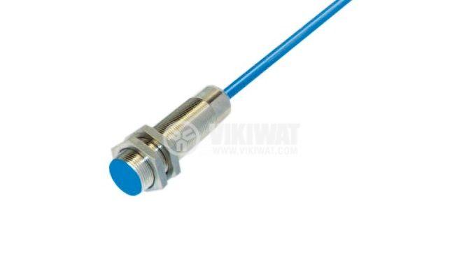 Капацитивен датчик, CD18PE21L, 10-30 VDC, PNP, NO, М18x75mm, 5mm, екраниран - 1