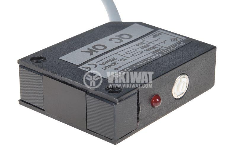 Оптичен датчик, ODD53P111L, 10-30VDC, дифузен, PNP, NO+NC, обхват 0.5m - 1
