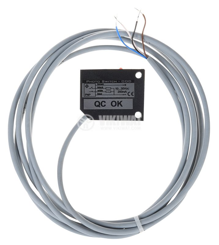 Оптичен датчик, ODD53P111L, 10-30VDC, дифузен, PNP, NO+NC, обхват 0.5m - 3