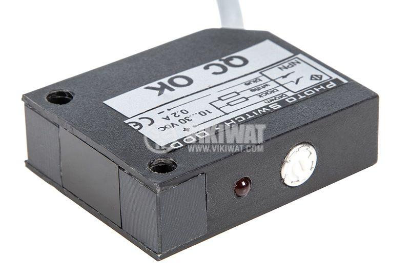 Оптичен датчик, ODD53N111L, 10-30VDC, дифузен, NPN, NO+NC, обхват 0.5m - 1